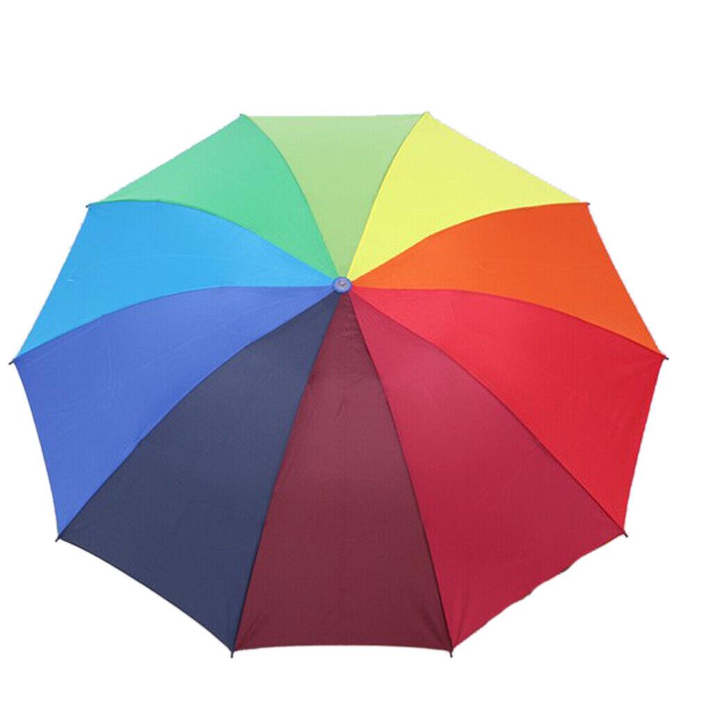 Rainbow Umbrella Folding Solid Automatic Lightweight Anti UV Sun for Children