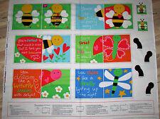 Huggable Loveable Sleepy Sheepy Children/'s Book Panel Fabric 1 Yard #3357P