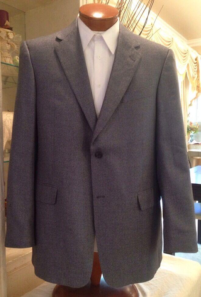 Hart Schaffner Marx  Herren Light Blau Silk Blazer Coat Sz 42 43 44 L MINT