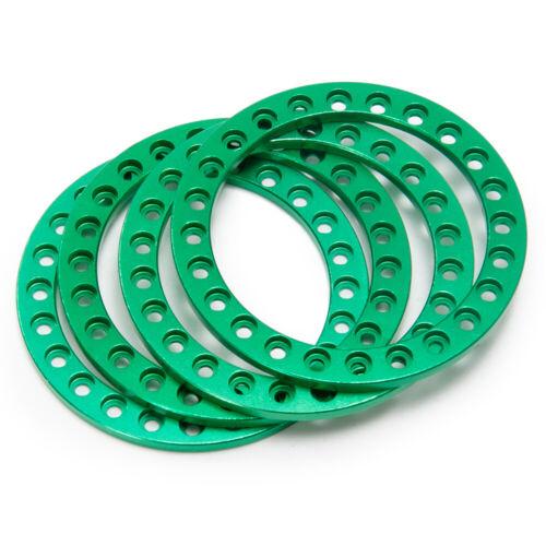"""1.9/"""" /& 2.2/"""" Metal Replacement Wheel Beadlock Ring For 1//10 RC Crawler Wheel Rims"""