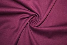 Grape Ponte Double Knit 95% Polyester 5% Spandex Lycra Stretch Fabric BTY