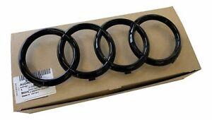 Original-Audi-Black-Edition-Ringe-Schwarz-Kuehlergrill-fuer-Audi-A1-A3-A4-A5-A6-A7