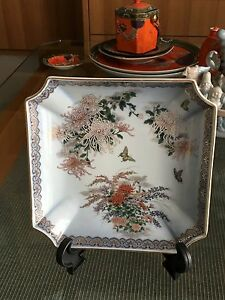 Piatto Orientale Japan Kyoto And To Have A Long Life. Other Asian Antiques Asian Antiques