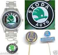 Skoda Logo Wrist Watch - Keyring - Patch - Lapel Pins (bulk Lot Gift Set) Mint