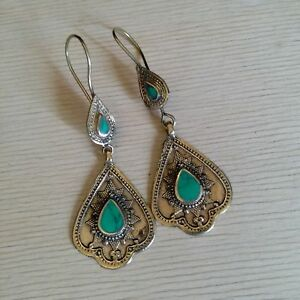Bohemian-Tribal-Earrings-2-5-034-Green-Accent-Style-2