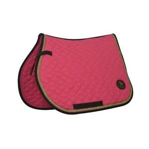 Crystal-Ace-Equestrian-Horse-Quilted-Saddle-Pad-Numnahs-Pink-Saddlecloth-Cotton