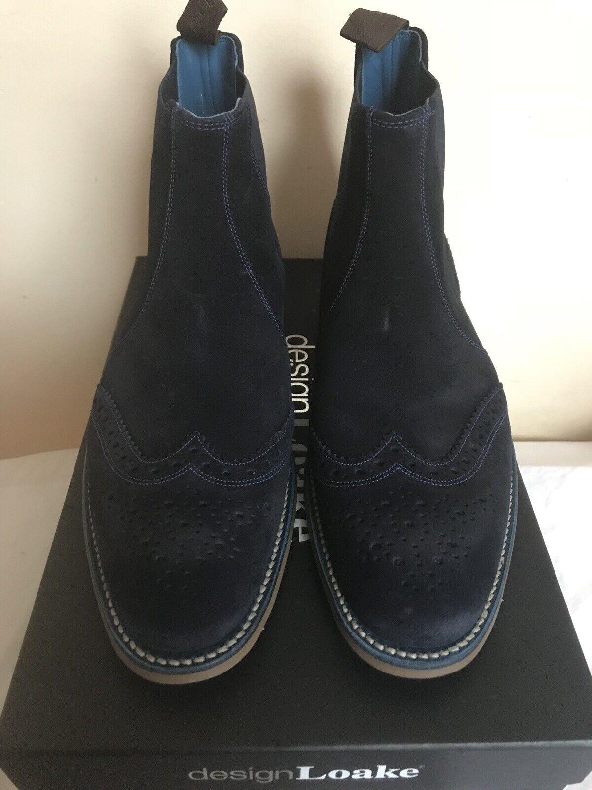Men's Loake Ante Azul Marino botas