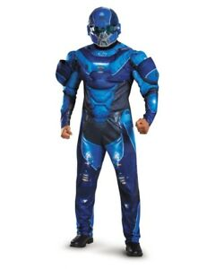 Adult S Mens Halo Guardians Nightfall Blue Spartan Iv Armor Costume Ebay