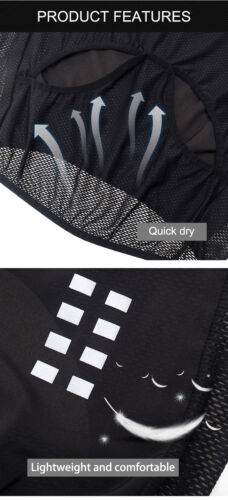Cycling Vest Reflective Sleeveless Windproof Bike Jersey Breathable Mesh Mens