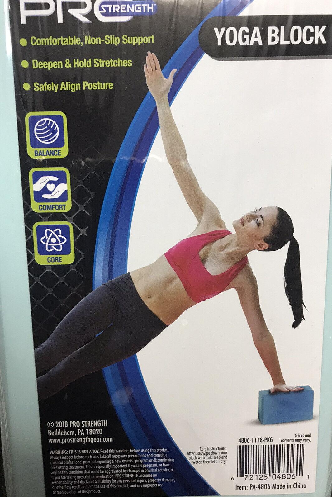 PRO-Strength Yoga Exercise Aqua Blue Foam Block 3″x 6″x 9″ Loc#EB19