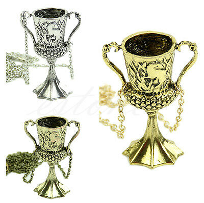 Helga Hufflepuff Cup Horcrux Necklace Pendant Deathly Hallows