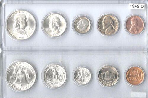 1949-D US Silver mint set in Whitman plastic holder
