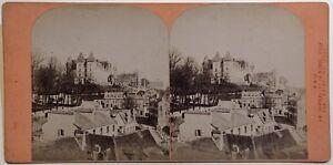 Pau Il Château E La Bassa Ville Foto Stereo Vintage Albumina Ca 1870