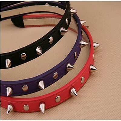 Fashion Pop Punk Headband Bow Spike Rivets Studded Band Party Unisex Hair Band