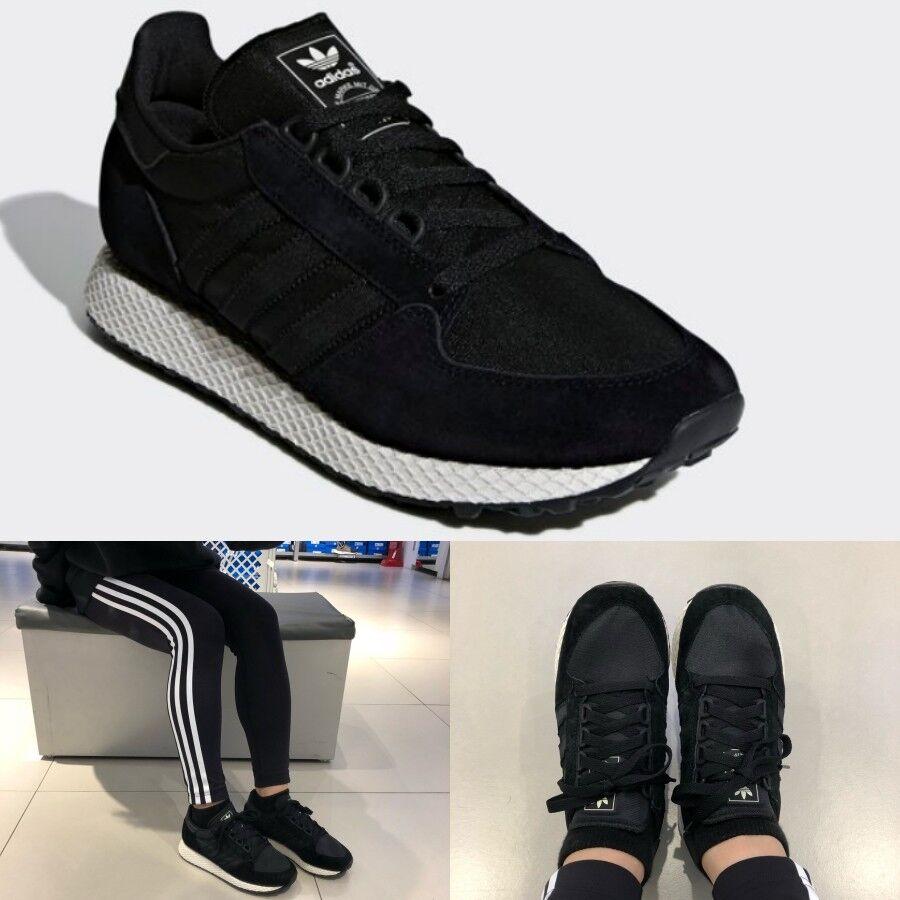 Adidas Originals Men's Women's Forest Grove Sneakers B37960 Black Sz4-13