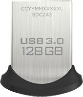 SanDisk Ultra Fit 128GB USB 3.0 Flash Drive (Black/Silver)
