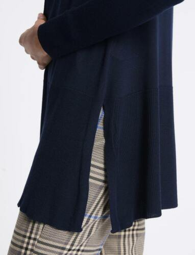 MARKS /& SPENCER BLACK GREEN NAVY BLUE OPEN FRONT RIBBED CARDIGAN Sizes S,M,L,XL