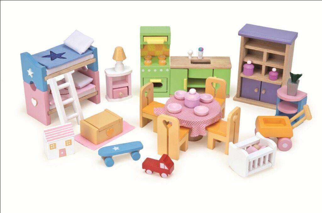 Le Toy van me040-casa de muñecas muebles-Starter funiture set