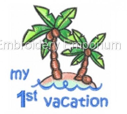 Beach Babies Collection-Machine Embroidery Designs sur cd ou USB