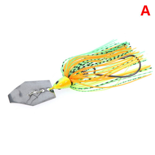 11g Chatterbait Blade Bait with Rubber Skirt buzzbait Fishing Lures Tackle ER