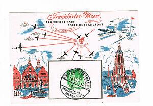 Bi-zone Herrliche Sonderkarte Blanko Zur Frankfurter Messe