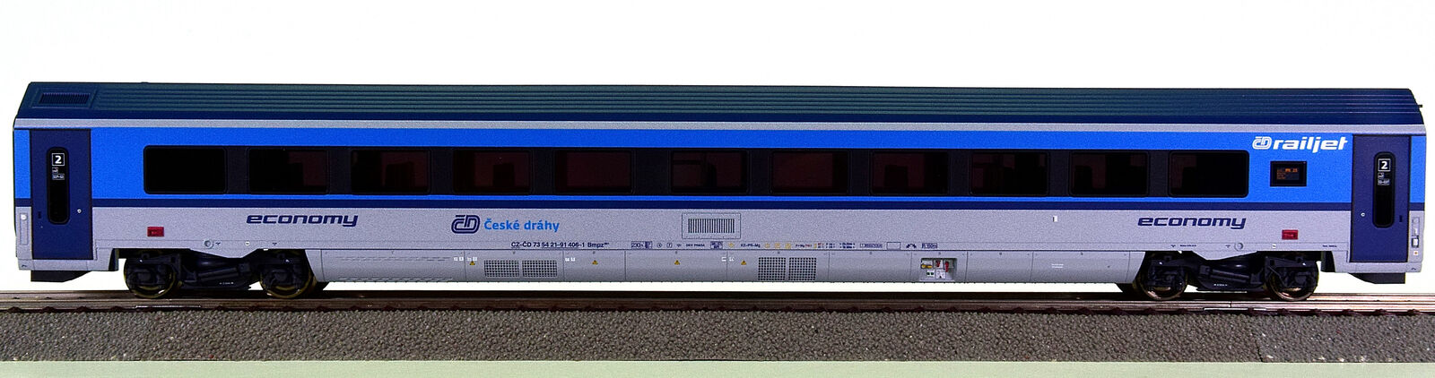 Roco 64699 – 2. clase railjet-viajeros de CD (estado checo tren)