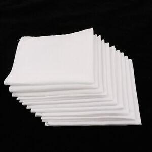 10pcs-Men-Women-100-Cotton-White-Handkerchiefs-Comfy-Hanky-Party-Hankies