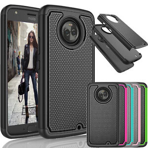 best sneakers 5bd76 3baaa Details about For Motorola Moto X4 / Moto X 4th Gen Shockproof Slim Rubber  Hard Case Cover