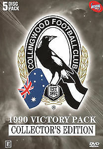 AFL Premiers 1990 Collingwood Magpies Victory Pack 5 Disc Box Set New Sealed DVD