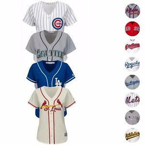 MLB-Majestic-Official-Team-Home-Away-Alt-Cool-Base-Jersey-Collection-Women-039-s