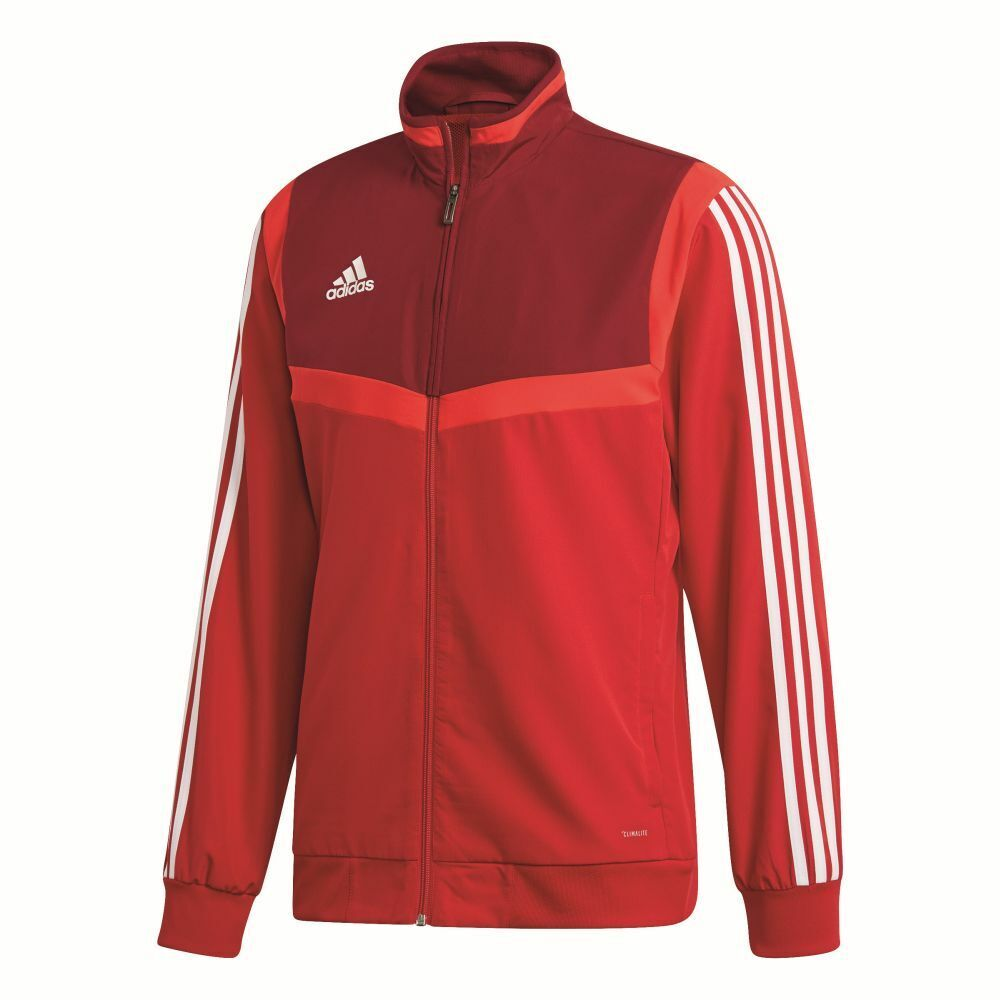 Adidas Footbtutti bambini Presentation Jacket lungo Sleeve Full Zip Tracksuit Top rosso