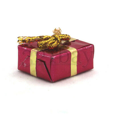 Set 6 Foil Wrapped Christmas Present Gift Dollhouse Miniatures by Beth 1//2 in