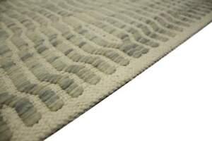 Teppich Kelim 160x230 Cm 100 Wolle Handgewebt Wollweiss Grau Ebay