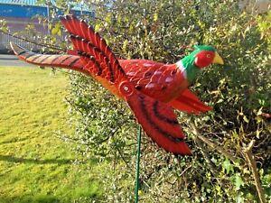 Pheasant-whirligig-garden-wind-spinner-garden-windmill-patio-ornament
