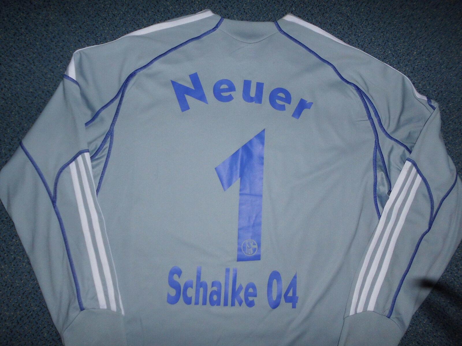 Schalke 04 , Torwarttrikot NEUER Trikot Gr. L , Nr. 1 , GAZPROM grau