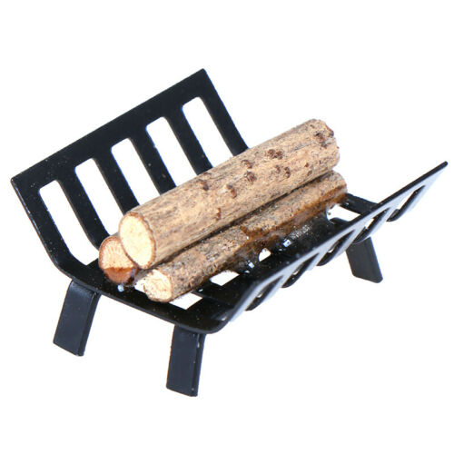 1//12 Dollhouse Furniture Metal Rack with Firewood for Fireplace M RH.