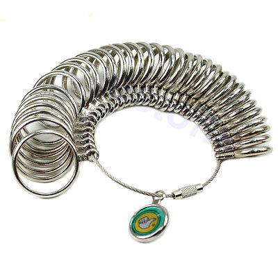 New Standard Jewelry Tool Size Finger Ring Sizer Metal Measure Gauge