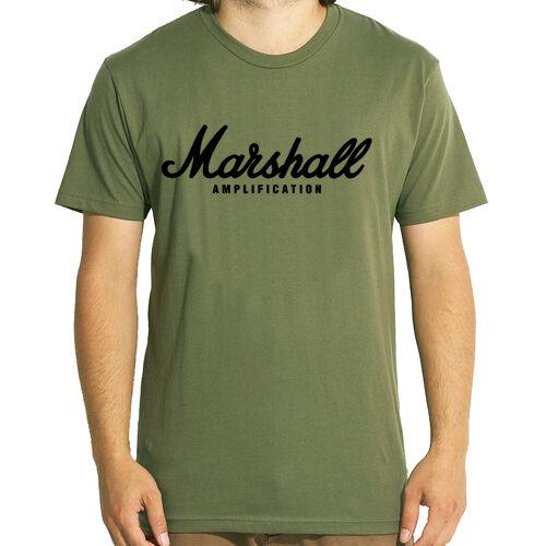 Marshall Amp Summer Rock Band Army Shirt Music T Guitar Green Hot nk80wOPX