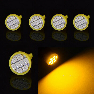 194 2825 168 W5W 8PCS Cool White T10 8SMD 1206 LED Bulbs for License Plate