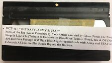 VHS Video Navy, Amy, USAF Navy Bllue Angels, Army / USAF Film Beyond The Horizon