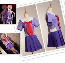 Hot Future Diary Mirai Nikki 2nd Gasai Yuno Gasai School Uniform Cosplay Costume