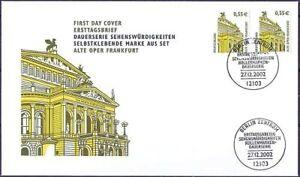 Frg-2002-Old-Opera-Frankfurt-Swk-Fdc-No-2304-BC-Bd-With-Berlin-Stamp-20-05