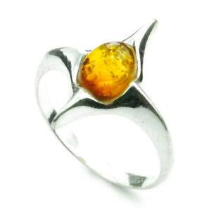 Lovely-Baltic-Amber-amp-925-Sterling-Silver-Designer-Ring-K415-S