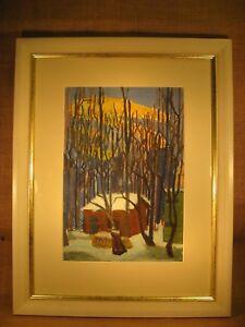 Aquarell-034-Eifel-034-Signiert-Gemaelde-datiert-1931