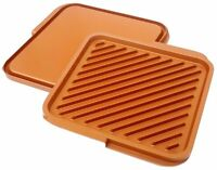 Gotham Steel Ceramic And Titanium Nonstick Double Grill - As Seen On Tv- on sale