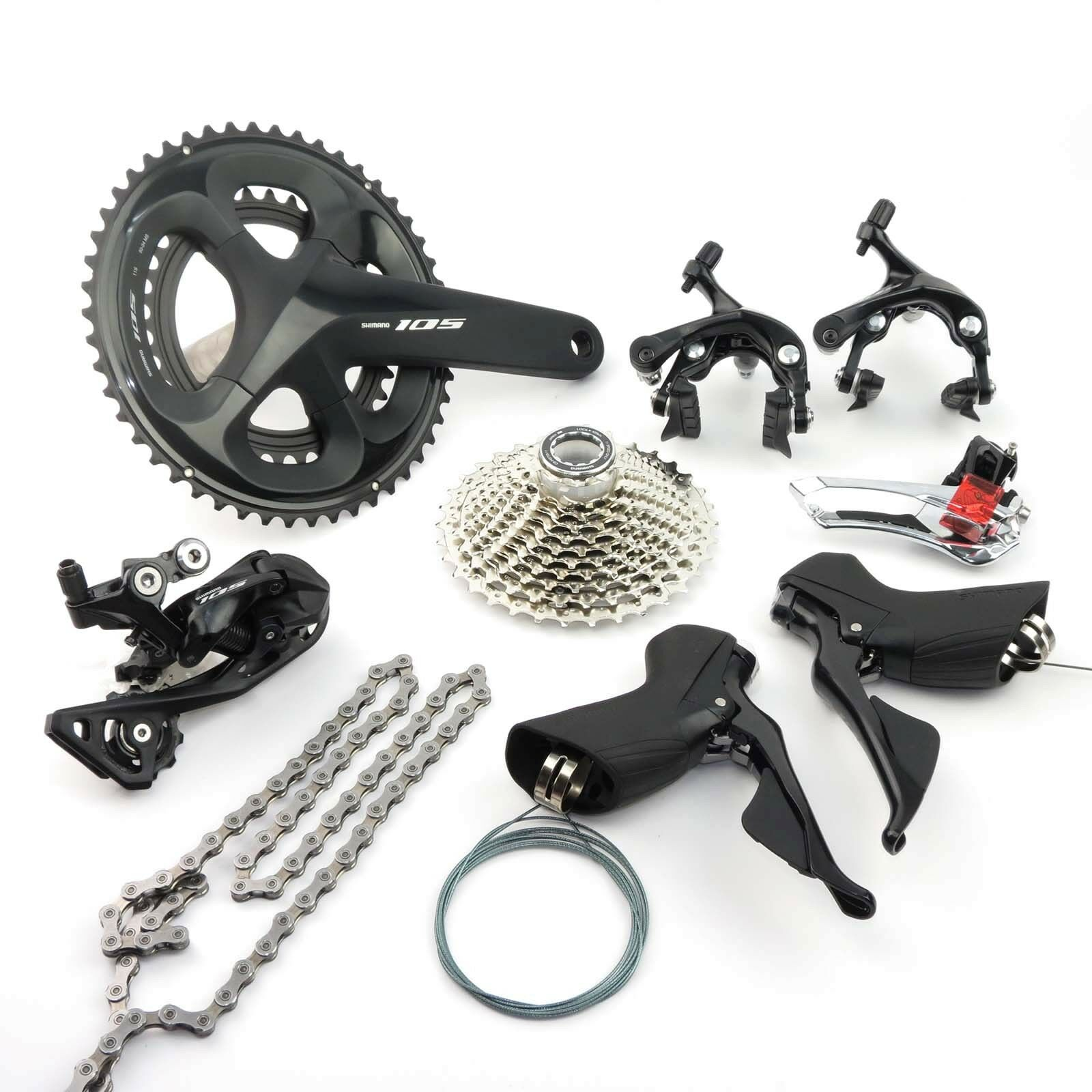 Shimano 105 R7000 2 x  11 speed 52-36T Road Bike Bicycle Groupset Build kit  for sale online