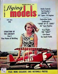 Vtg. Flying Models Magazine Dec/Jan 1966 Lindbergh's Spirit of America m210