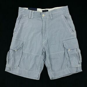 7e5265d45b New Polo Ralph Lauren Chino Cargo Shorts All Sizes Striped Blue ...