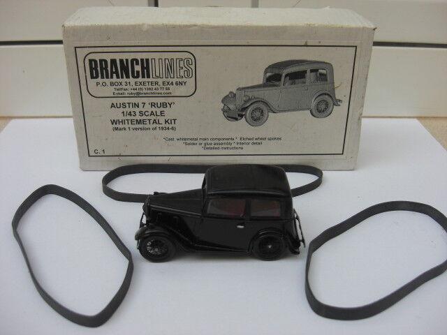 Austin 7 Ruby 1934 Branchlines Models MIB 1:43 Blanc  metal built rover mg RARE | De Fin D'année Bonnes Affaires Vente