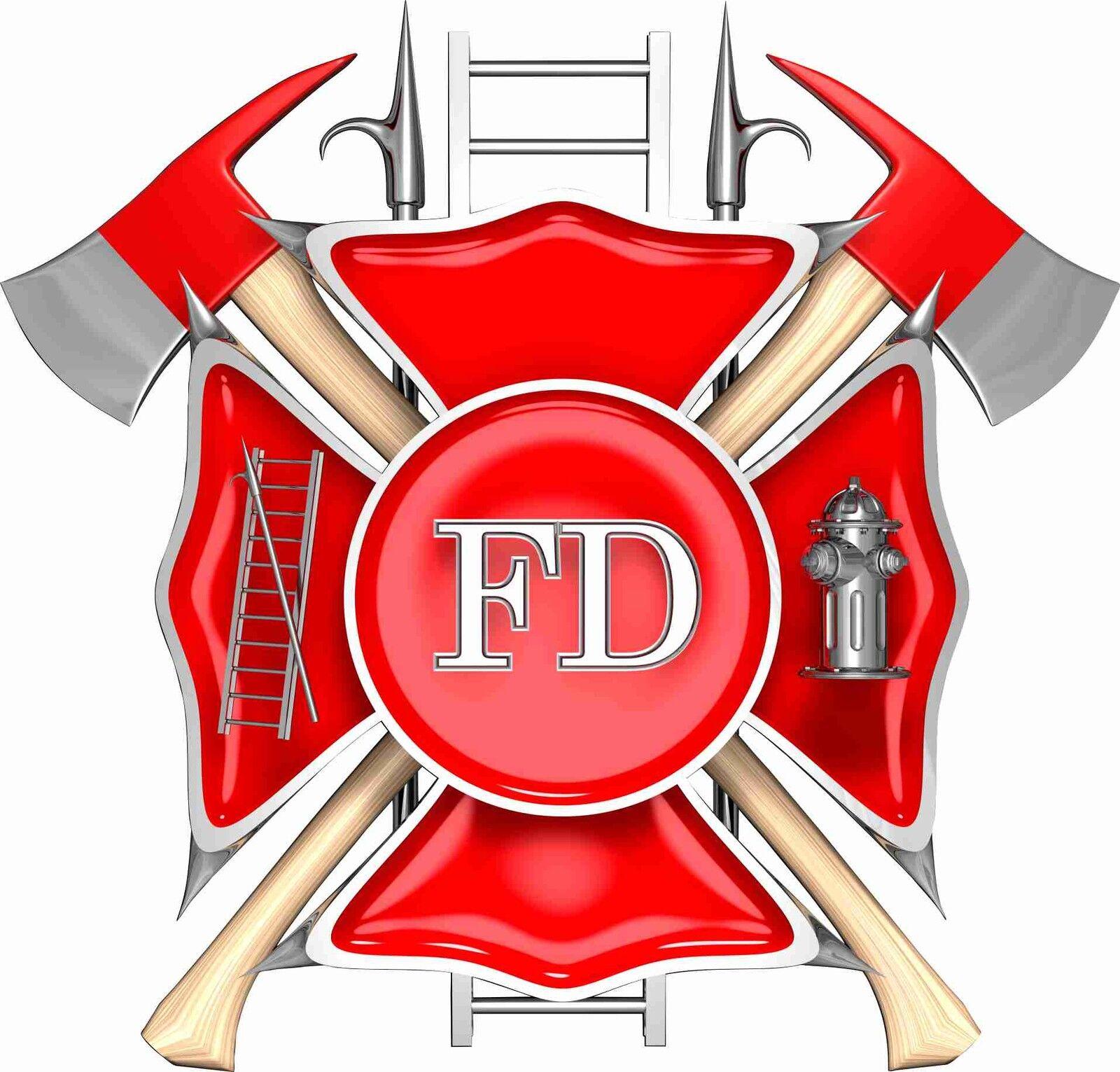 Fireman Fire fighter logo  Cornhole Board Game Decal Set Super Nice Image